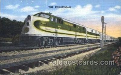 tra006319 - The Tennessean Train Trains, Southern Railway Locomotive, Steam Engine,  Postcard Postcards