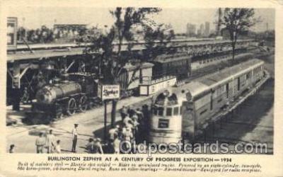 tra006321 - Burlington Locomotives Train Trains Locomotive, Steam Engine,  Postcard Postcards