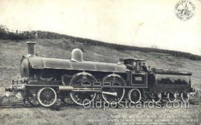 tra006325 - Greater Britain Built Oct 1891, Train Trains Locomotive, Steam Engine,  Postcard Postcards