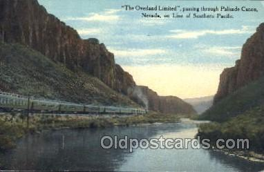 tra006327 - The Overland Limited Train Trains Locomotive, Steam Engine,  Postcard Postcards