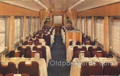 tra006331 - Southern Pacific, Dining Car, Shasta Daylight Train Trains Locomotive, Steam Engine,  Postcard Postcards