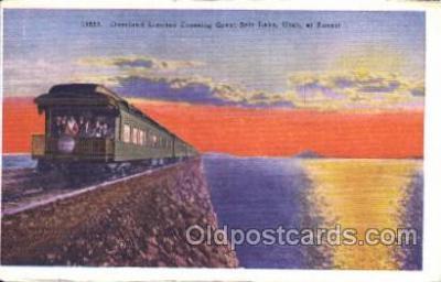 tra006332 - The Overland Limited Train Trains Locomotive, Steam Engine,  Postcard Postcards