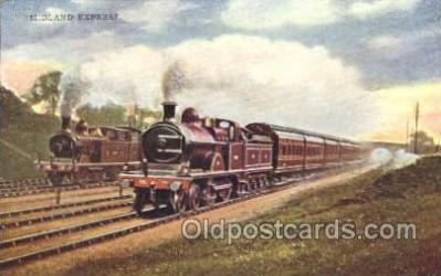 tra006334 - Midland Express Train Trains Locomotive, Steam Engine,  Postcard Postcards