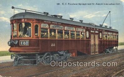 tra006343 - St. Joseph Interurban Car Train Trains Locomotive, Steam Engine,  Postcard Postcards