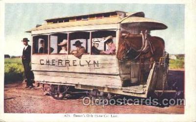 tra006348 - Cherrelyn Rapid Transit Denver Colorado USA Train Trains Locomotive, Steam Engine,  Postcard Postcards