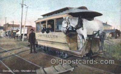 tra006349 - Cherrelyn Rapid Transit Denver Colorado USA Train Trains Locomotive, Steam Engine,  Postcard Postcards