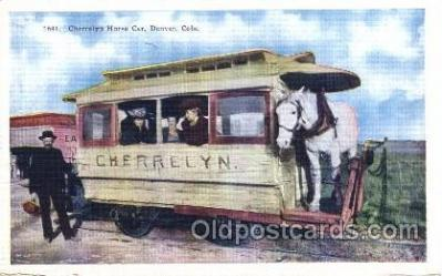tra006351 - Cherrelyn Rapid Transit Train Trains Locomotive, Steam Engine,  Postcard Postcards