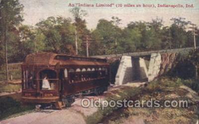 tra006357 - Indianapolis, Indiana, Usa Train Trains Locomotive, Steam Engine,  Postcard Postcards