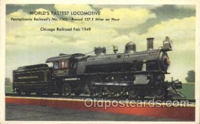 tra006358 - Pennsylvania Railroad Train Trains Locomotive, Steam Engine,  Postcard Postcards