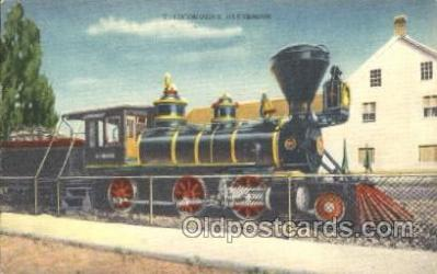 tra006362 - Locomotive Glenbrook provided lumber for Virginia City Mines USA Train Trains Locomotive, Steam Engine,  Postcard Postcards