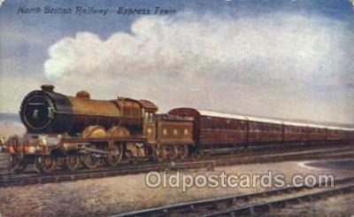 tra006379 - North British Railway, Edinburgh Express Train Trains Locomotive, Steam Engine,  Postcard Postcards