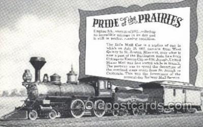 tra006381 - Pride of the Prairies Train Trains Locomotive, Steam Engine,  Postcard Postcards