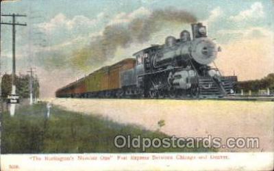 tra006386 - Burlington Locomotives Train Trains Locomotive, Steam Engine,  Postcard Postcards