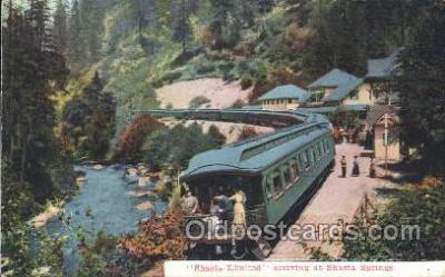 tra006388 - Sharsta Limited Train Trains Locomotive, Steam Engine,  Postcard Postcards
