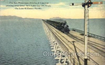 tra006390 - The San Francisco Ca, USA Overland Limited Train Trains Locomotive, Steam Engine,  Postcard Postcards