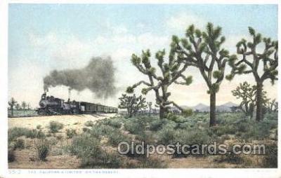 tra006402 - The California Limited Train Trains Locomotive, Steam Engine,  Postcard Postcards