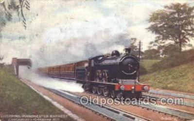 tra006416 - Raphael Tuck & Sons, Liverpool Express Train Trains Locomotive, Steam Engine,  Postcard Postcards