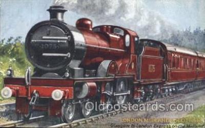 tra006424 - Raphael Tuck & Sons, London, Midland Scottish Express Train Trains Locomotive, Steam Engine,  Postcard Postcards