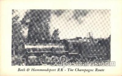 tra006430 - The Champagne Route Train Trains Locomotive, Steam Engine,  Postcard Postcards