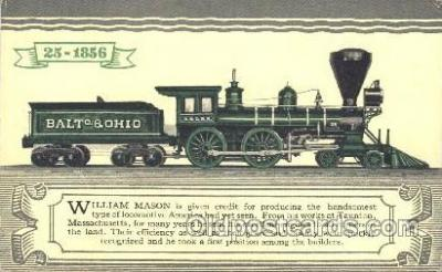 tra006443 - William Mason Train Trains Locomotive, Steam Engine,  Postcard Postcards