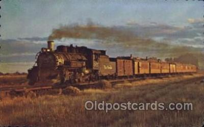 tra006451 - Between Alamosa and Durango Coloroado, USA Train Trains Locomotive, Steam Engine,  Postcard Postcards