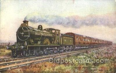 tra006455 - Raphael Tuck & Sons, The North British Railway Train Trains Locomotive, Steam Engine,  Postcard Postcards