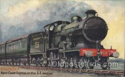tra006456 - Raphael Tuck & Sons, Southern Train Trains Locomotive, Steam Engine,  Postcard Postcards