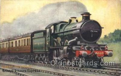 tra006457 - Raphael Tuck & Sons, Great Western Bristol 2 hours Express Train Trains Locomotive, Steam Engine,  Postcard Postcards