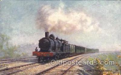 tra006458 - Raphael Tuck & Sons, Chemin Defer D' Orleans Rapide De Paris A Bordeaux, Postkarte Train Trains Locomotive, Steam Engine,  Postcard Postcards