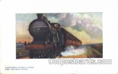 tra006463 - Raphael Tuck & Sons Kings Cross to Leads Express, Great Nothern Railway Train Trains Locomotive, Steam Engine,  Postcard Postcards