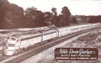 tra006482 - Vista Dome Zephyr Train Chicago and Kansas City USA Trains Locomotive, Steam Engine,  Postcard Postcards