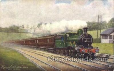 tra006489 - Raphael Tuck & Sons Flying Scotchmen Near HatfieldTrain Trains Locomotive, Steam Engine,  Postcard Postcards