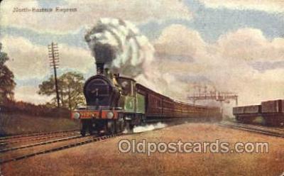 tra006490 - North Eastern Express Train Trains Locomotive, Steam Engine,  Postcard Postcards