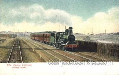 tra006497 - The Vienna Express leaving Ostend,Train Trains Locomotive, Steam Engine,  Postcard Postcards