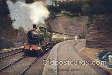 tra006501 - Great Western Express Train Trains Locomotive, Steam Engine,  Postcard Postcards