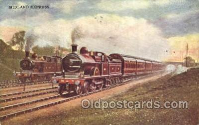 tra006505 - Midland Express Train Trains Locomotive, Steam Engine,  Postcard Postcards