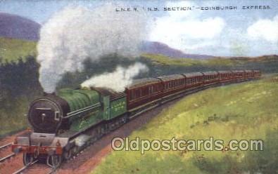 tra006506 - Edinburgh Express Train Trains Locomotive, Steam Engine,  Postcard Postcards