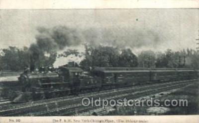 tra006508 - The P.R.R. New York - Chicago Flyer Train Trains Locomotive, Steam Engine,  Postcard Postcards