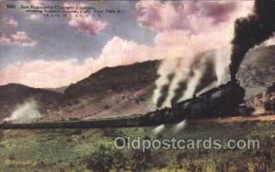 tra006511 - San Francisco Chicago Express Train Trains Locomotive, Steam Engine,  Postcard Postcards