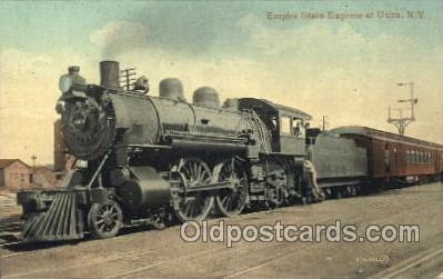 tra006517 - Empire State Express at Utica, New York, USA Express Train Trains Locomotive, Steam Engine,  Postcard Postcards
