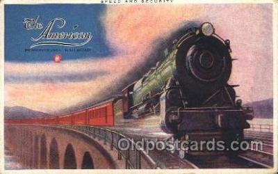 tra006518 - The American, Pennsylvania Railroad Train Trains Locomotive, Steam Engine,  Postcard Postcards
