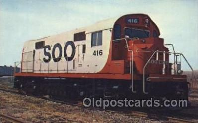 tra006527 - Soo 146 Train, Trains, Railroad, Railroads Postcard Postcards