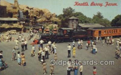 tra006531 - Knott's Berry Farm Train, Trains, Railroad, Railroads Postcard Postcards