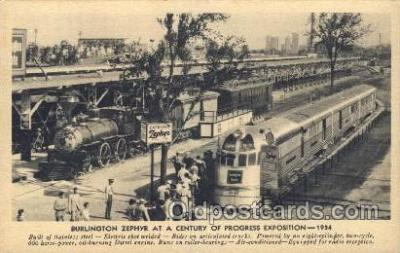 tra006532 - Burlington Zephyr Train, Trains, Railroad, Railroads Postcard Postcards