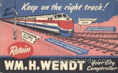 tra006534 - WM.H. Wendt Train, Trains, Railroad, Railroads Postcard Postcards