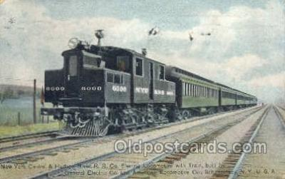 tra006547 - New York central Hudson RR Schenectady, NY USA Train, Trains, Locomotive, Old Vintage Antique Postcard Post Card