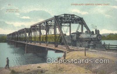 tra006548 - Overland Limited , USA Train, Trains, Locomotive, Old Vintage Antique Postcard Post Card