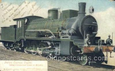 tra006550 - Italian express  Train, Trains, Locomotive, Old Vintage Antique Postcard Post Card