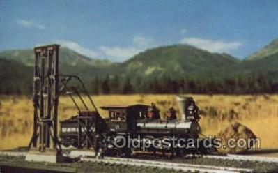 tra006558 - Robertson Cinder Conveyor, USA Train, Trains, Locomotive, Old Vintage Antique Postcard Post Card