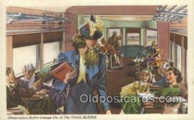 tra006565 - Trail Blazer, PA USA Train, Trains, Locomotive, Old Vintage Antique Postcard Post Card